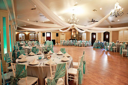 The Lodge with Teal and White