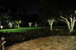 Property at night with lights