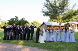Bridal party lakeside