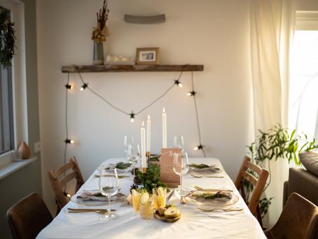 Weihnachtsinspiration - gedeckter Tisch