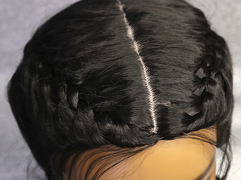 Braided None Lace Synthetic Wigs
