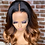 Thumbnail: Remy Human Hair Ombre Blonde Brown Color 150% Wig - Brazilian
