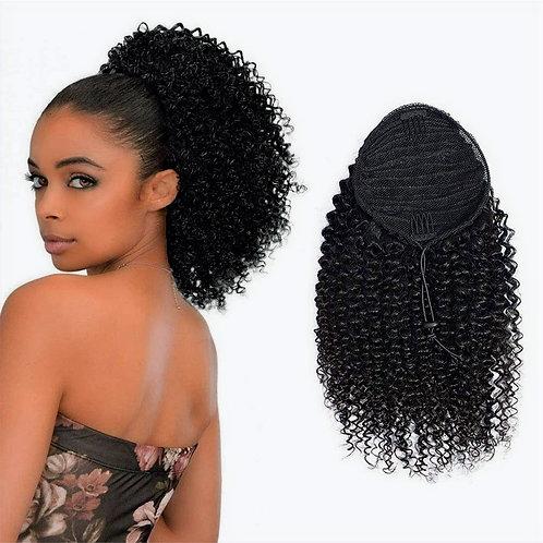 Ponytail Drawstring Cuticle Aligned Grade 10A++ Virgin Human Hair Afro Kinky