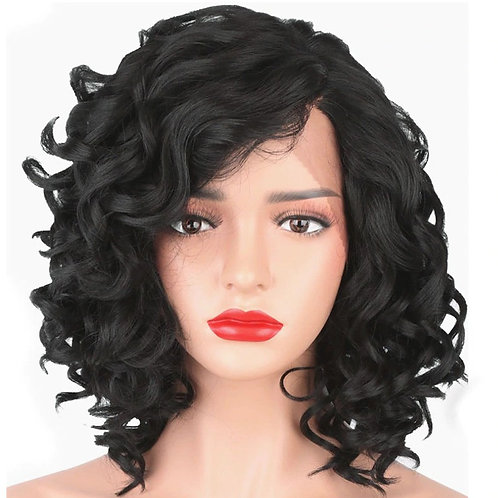 Curly Front Lace 180% Density Synthetic Wigs