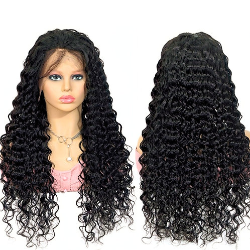 Grade 10A Full Lace Kinky Curly 150% Density Brazilian Wig