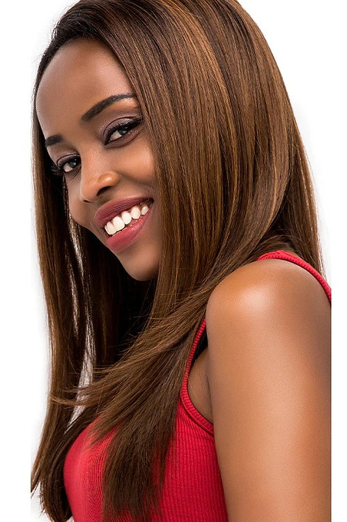 Lace Front Straight Synthetic Ombre
