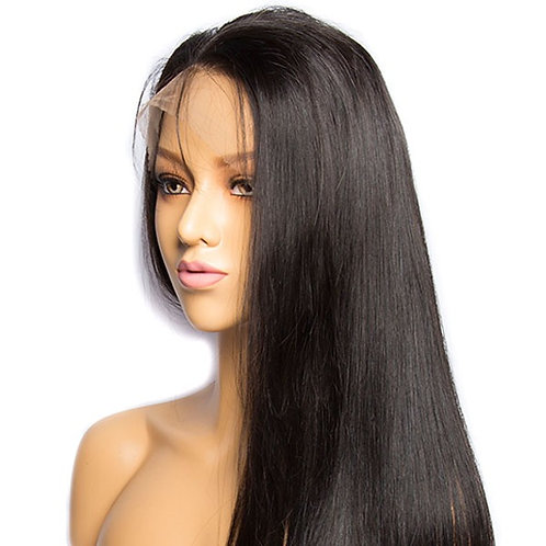 Grade 10A Straight Human Hair Invisible HD 5X5 Lace Closure 180%Density Wig