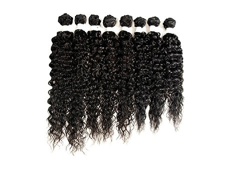 Kinky Curly Bundles Synthetic Natural Hair 8pcs High Temperature Fibre Weave