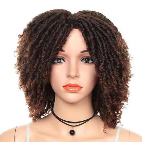 Crochet Dreadlocks Ombre Synthetic Hair Wig Heat Resistant Fiber