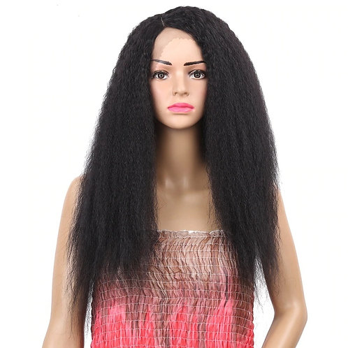 Kinky Fluffy Synthetic Lace Front Wig Heat Resistant Fiber