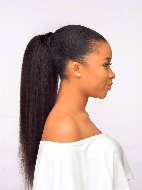 Ponytail Wrapping Cuticle Aligned Grade 10A++ Virgin Human Hair Yaki