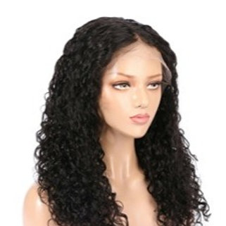 Grade 10A Jerry Curly Front Full Lace Long Curly150% Human Hair Wig