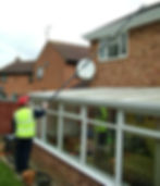 Gutter Cleaning with the Kiam Vacuum Cleaner.