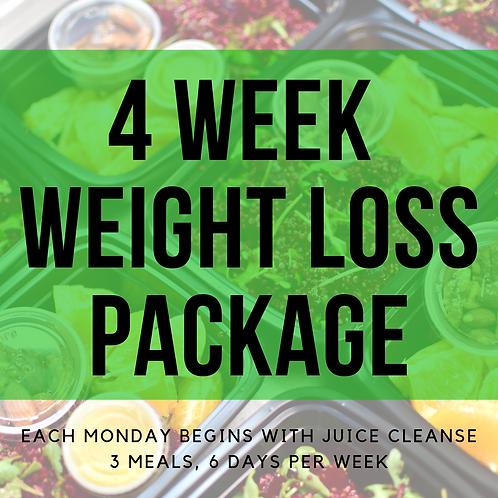4 Week Weight Loss Package