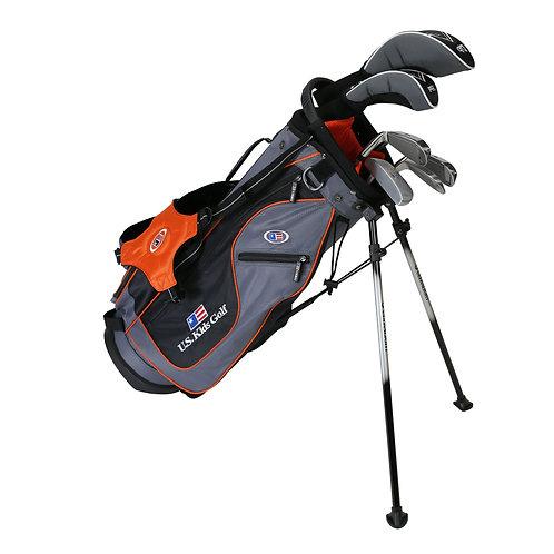 US Kids UL51 6-Club DV2 Stand Bag Set, Right Hand, Grey/Orange