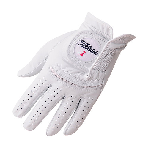 Titleist Perma Soft Golf Glove, Men's, Fit on Left Hand, Pearl White