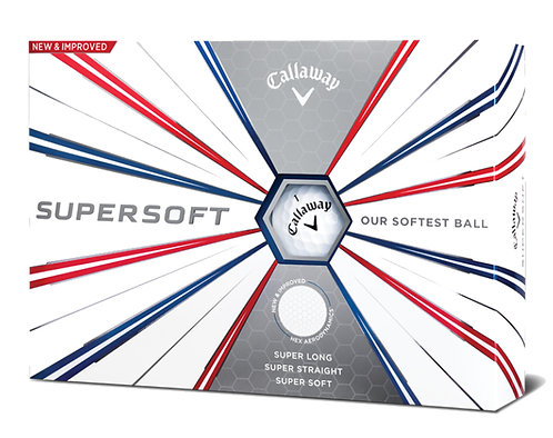 Callaway SuperSoft '19 Golf Balls, Pack of 12, White