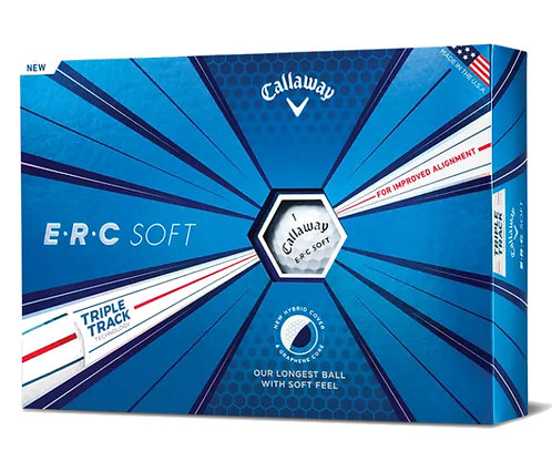Callaway ERC Soft 19 Triple Track Golf Balls, Pack of 12, White