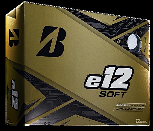 Bridgestone e12 Soft Golf Balls, Pack of 12, White