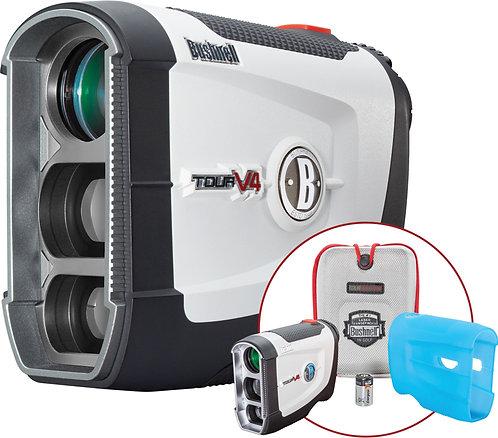 Bushnell Tour V4 Laser Golf Rangefinder Unit, Patriot Pack