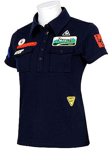 Le Coq Sportif Half Sleeve Knit Polo Shirt, Women's