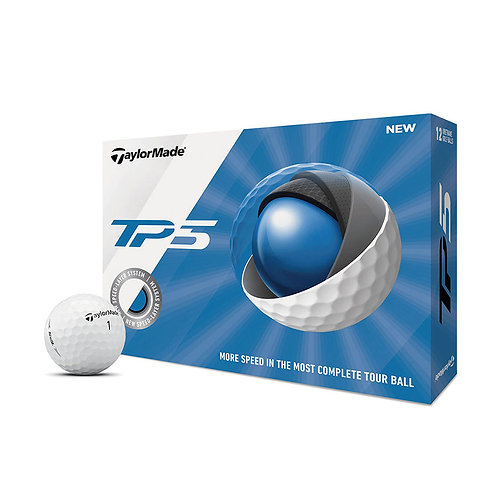 TaylorMade 2019 TP5 Golf Balls, Pack of 12, White
