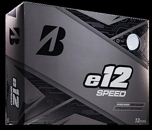 Bridgestone e12 Speed Golf Balls, Pack of 12, White