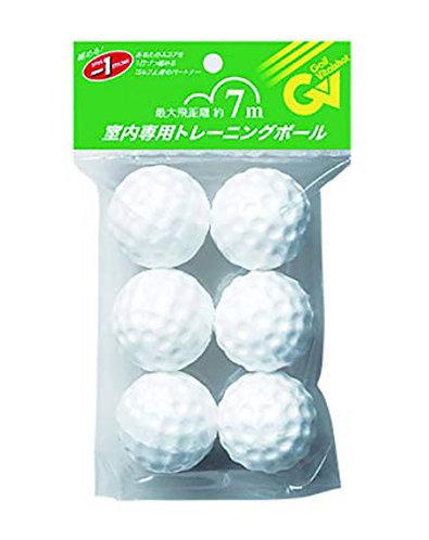 Tabata Styrofoam Golf Balls, GV-0306, White, 6 Balls/pack