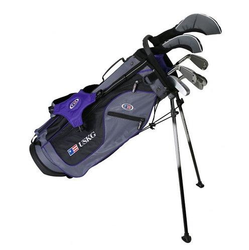 US Kids UL54 7-Club DV2 Stand Bag Set, Right Hand, Grey/Purple