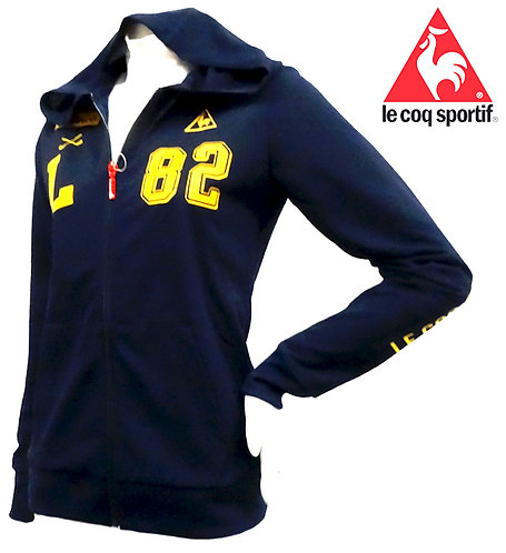 Le Coq Sportif Lightweight Long Sleeve Hoodie, Women's, Navy