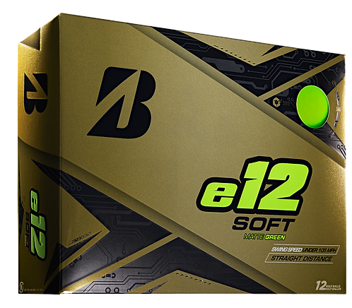 Bridgestone e12 Soft Golf Balls, Pack of 12, Matte Green
