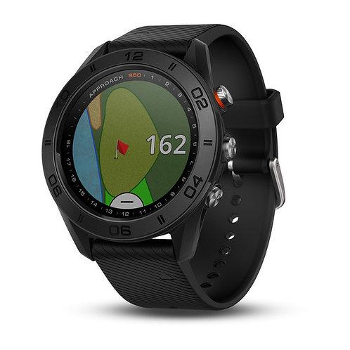Garmin Approach S60 GPS Golf Watch, Black with Black Band
