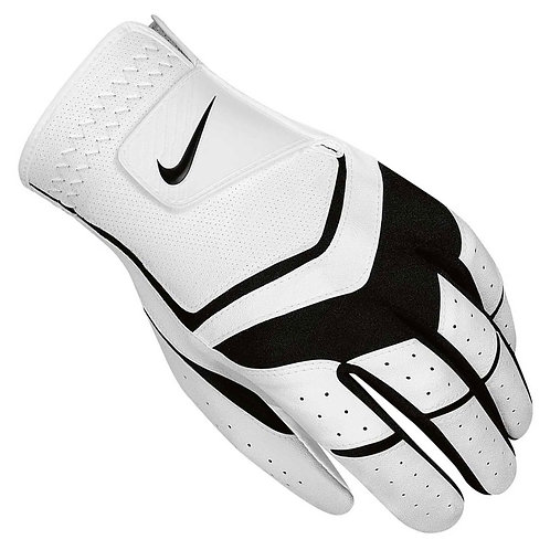 Nike Dura Feel VIII Golf Glove, Men's, Fit on Left Hand, White-Black-Cool Grey