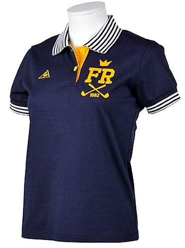 Le Coq Sportif Short Sleeve Polo Shirt, Women's, Navy