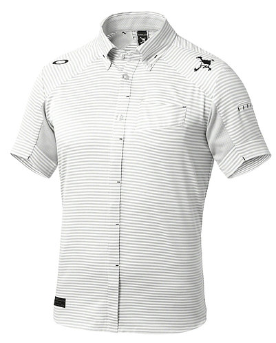 Oakley Japan Exclusive Skull Stripe Woven Shirt, Men's, White