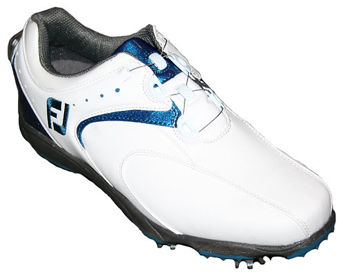 FootJoy New EXL BOA Golf Shoes, Men's, White-Blue, #45145