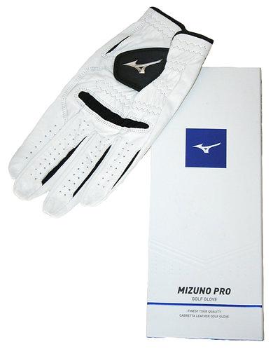 Mizuno Pro 2018 Glove, Fit on Left Hand, Men's, White-Black