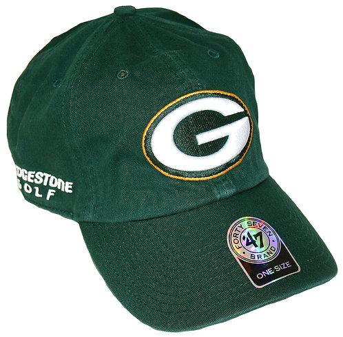 Bridgestone Golf '47 NFL Adjustable Cap Hat, Green Bay Packers