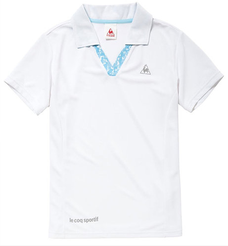 Le Coq Sportif Stretch Fit V-Neck Polo #QB716271, Women's, White