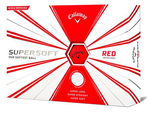 Callaway SuperSoft '19 Golf Balls, Pack of 12, Matte Red