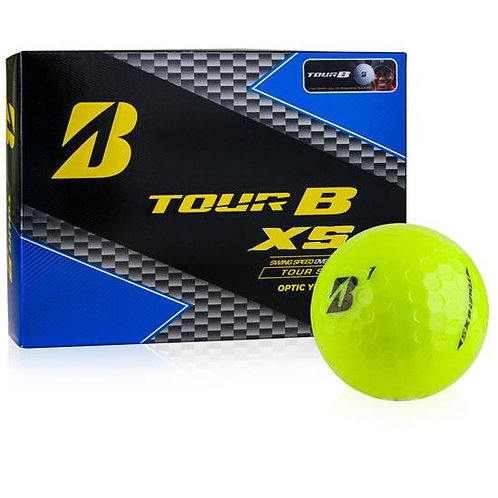 Bridgestone Tour B XS Golf Balls, Pack of 12, Optic Yellow