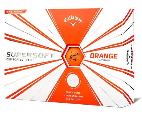 Callaway SuperSoft '19 Golf Balls, Pack of 12, Matte Orange