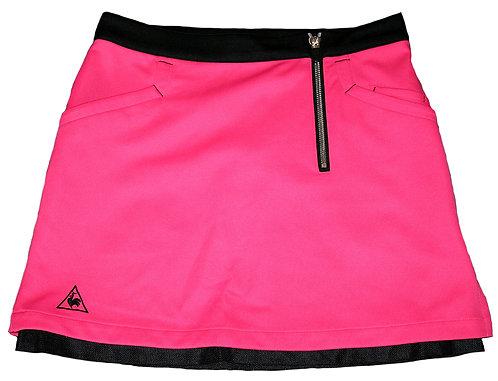 Le Coq Sportif Stretch Mesh Front Zipper Women's Skirt, Pink