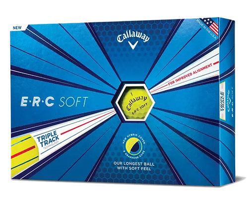 Callaway ERC Soft 19 Triple Track Golf Balls, Pack of 12, Yellow