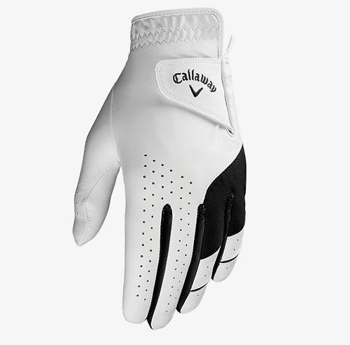 Callaway Weather Spann Golf Glove, Men's, Fit on Left Hand, White