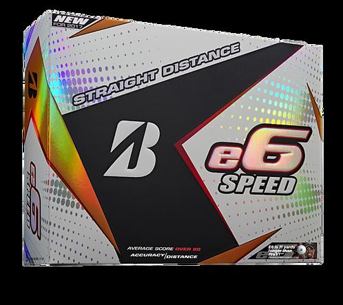Bridgestone e6 Speed Golf Balls, Pack of 12, White