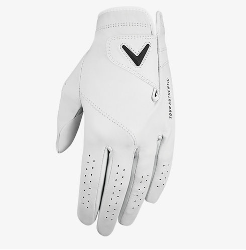 Callaway Tour Authentic Golf Glove, Men's, Fit on Left Hand, White
