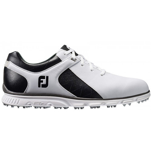 FootJoy Pro SL Spikeless Golf Shoes, Men's, Black-White-Silver