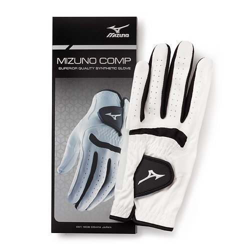 Mizuno Comp Golf Glove, White-Black