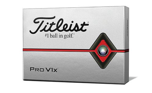 Titleist 2019 Pro V1x Golf Balls, Pack of 12, White
